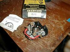 NORS FORD MERCURY 1949-56 8 CYLINDER DUAL POINT DISTRIBUTOR BREAKER PLATE