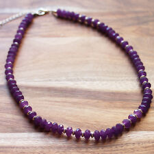 Hand crafted Mid-Length Semi-Precious Faceted Amethyst Natural Stone Necklace