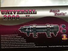 AQUA ZONIC UV LIGHT 5W STERILIZER AQUARIUM POND FILTER