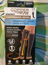 NEW! Copper Fit Copper Infused Compression Socks UNISEX SIZE Small/Medium