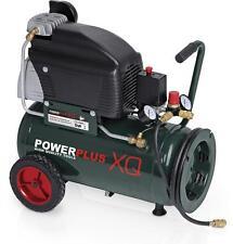 24l Druckluft Kompressor 10 bar 2,5 PS 24 Liter Tank rollbar mit 2 Manometern