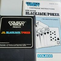 Blackjack/Poker (Colecovision) Game Cartridge with Manual