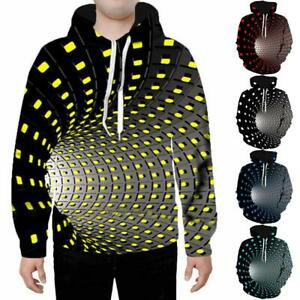 Psychedelic Vortex 3D print Mens Hoodie Sweater Sweatshirt Pullover Tops