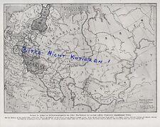 Werbung 1918, Land-Karte, Rußland Übersichtskarte Selbstbestimmungsrechts Völker