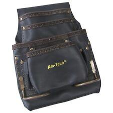 4 Pocket Cinturón de herramientas de cuero pesado deber-Amtech