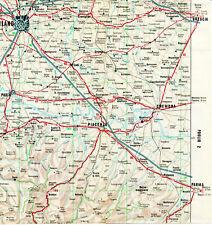 Milano Piacenza Pavia Brescia 1962 picc. carta orig. Parma Cremona Bobbio Lodi