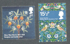 Art-William & Mary Morris mnh (2)Artists-Textiles mnh Great Britain