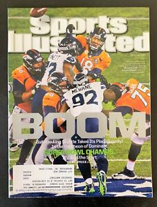 Denver Broncos Peyton Manning Sports Illustrated Magazine Super Bowl XLVIII 2014