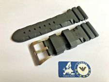 Rubber Strap for Panerai Luminor Submersible Officine Black 24mm Buckle Vent PA3