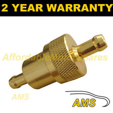 "GOLD 1/4"" METAL UNIVERSAL IN LINE FUEL FILTER ANODISED ALUMINIUM"
