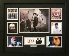 30 SECONDS TO MARS SIGNED LIMITED EDITION FRAMED MEMORABILIA