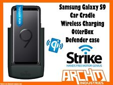 Strike Alpha Samsung Galaxy S9 Car Cradle Wireless Charge OtterBox Defender Pro