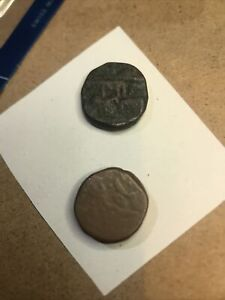 antique rare Coins Early Ad Very Old