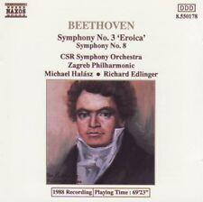 Beethoven-Symphony No. 3 & 8 (Halasz/Rudolf) CD