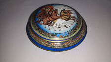 VINTAGE ARTIGIANALE GRECA IN CERAMICA Pentola con coperchio/semisferasup/Sugar Bowl MADE IN GREECE