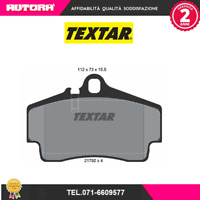2179203 Kit pastiglie freno a disco post.Porsche (MARCA TEXTAR)