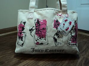 Juicy Couture Diva Cotton Shopper/Beach Tote, Tags Included