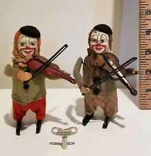 Pair of Schuco Wind-up Clowns with Key