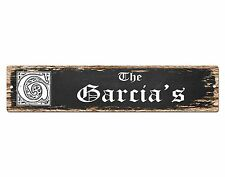 SP0445 The GARCIA'S Family name Plate Sign Bar Store Cafe Home Chic Decor Gift