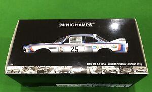 1/18 Minichamps Biante BMW CSL 3.5 IMSA Winner Sebring 1975 Allan Moffat-Redman