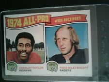 1975 Topps Football #201 All-Pro Receivers Charley Taylor Fred Biletnikoff NMMT