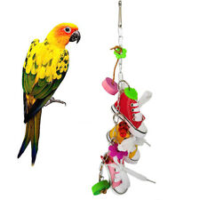 EE_ DV_ Mini Canvas Shoes Flower Parrot Toys Swing Bird Parakeet Hanging Pet Cag
