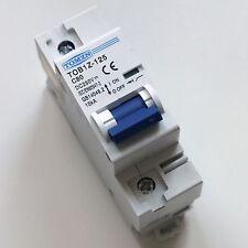 80A DC Circuit Breaker MCB Solar Fuse 250v Single Pole 1P Ebike TOB1Z-125 C80
