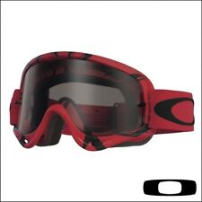 OAKLEY O-FRAME INTIMIDATOR RED/BLACK MASCHERA LENTE FUME MOTO CROSS DIRT BIKE