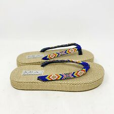 MIA Womens Flip Flops Platform Beads Cassie Size 8.5