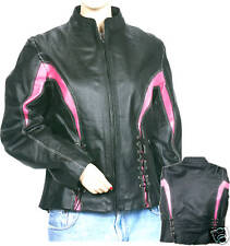 LADIES LEATHER  MOTORCYCLE JACKET JACKET 'S NEW  SMALL