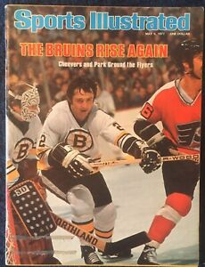 5.9.1977 Sports Illustrated JERRY CHEEVERS & BRAD PARK - Boston Bruins Hockey