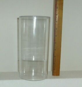 """Collectible Beanie Babie clear acrylic round 8.5"""" display storage case with seat"""