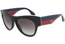 New Authentic Prada Sunglasses PR 28QS TKE/0A7 Black Blue Red / Grey Gradie 56mm