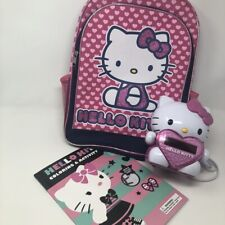 Hello Kitty Projection Alarm Clock, AM/FM Radio w/coloring book and backpack