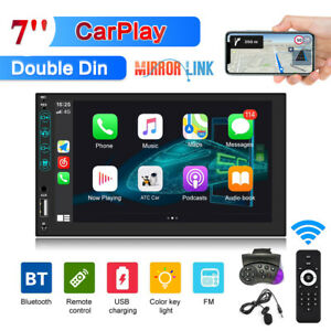 """7""""Double 2Din Radio Apple/Andriod Car Play BT Car Stereo Touch ScreenMicrophone"""