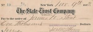 1893  THE STATE TRUST BANK OF NEW YORK