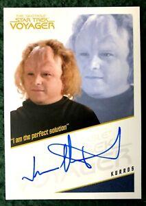 Star Trek Inflexions Jason Alexander as Kurros Quotable Voyager Autograph Card