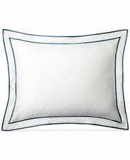 Lauren Ralph Lauren Spencer Sateen Standard Pillow Sham Fisher Blue & White