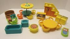 Vintage Fisher Price Little People Furniture  Accessories Large Lot