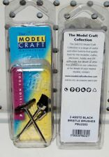 Modelcraft 3 Varios Negro Cerdas Pinceles (Ref: PBU2203) Dremel Etc Pulido