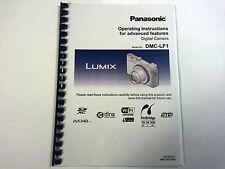 Panasonic Lumix DMC GH3 manual de instrucciones de guía del usuario impreso fullcolour A4 orA5