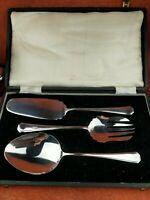 Antique Hallmarked Silver Plate Cake/Dessert Set Cased J.B. Chatterley & Sons