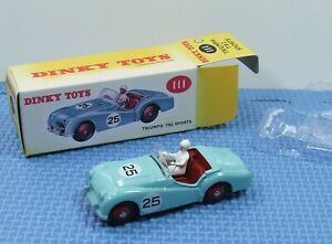 DINKY REPO SERIES - TRIUMPH TR2 SPORTS CAR - New Condition with Sun Faded Packet