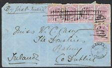 1881 Ceylon Manaar to Raheny Dublin Cover with 5x SG123 4c Rosy-Mauve