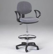 GRAY | Counter Drafting Height | Office Chair Stool | w/ Arms!