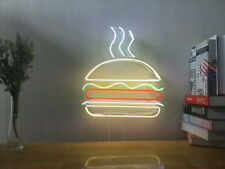 New Hamburger Burger Neon Sign For Bedroom Wall Home Decor Artwork With Dimmer