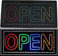 Enseigne lumineuse à LED OPEN Multicouleurs 60X30X2,5cm