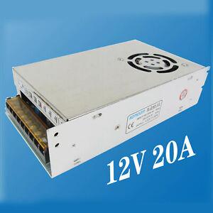 AC 110/220V to DC 12V 20A 240W Volt Transformer Switch Power Supply Converter