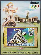 Umm al qiwain 1971 ** bl.32 Olympic Games Juegos Olímpicos escultura Sculpture