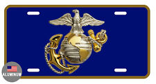 LICENSE PLATE MARINES DURABLE ALUMINUM HIGH QUALITY FULL COLOR GLOSSY LP#059